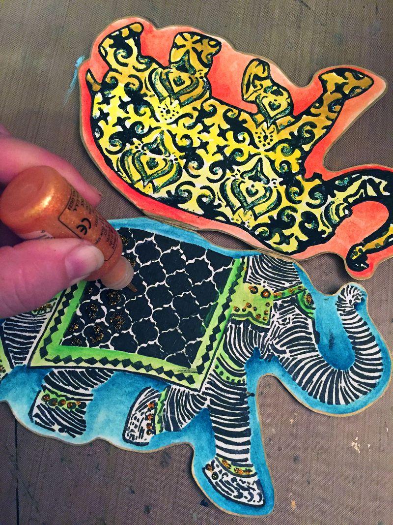 Reversible Elephant Card Step 3 - Gwen Lafleur