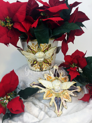 Christmas Decor with StencilGirl and Imagine Crafts - Gwen Lafleur