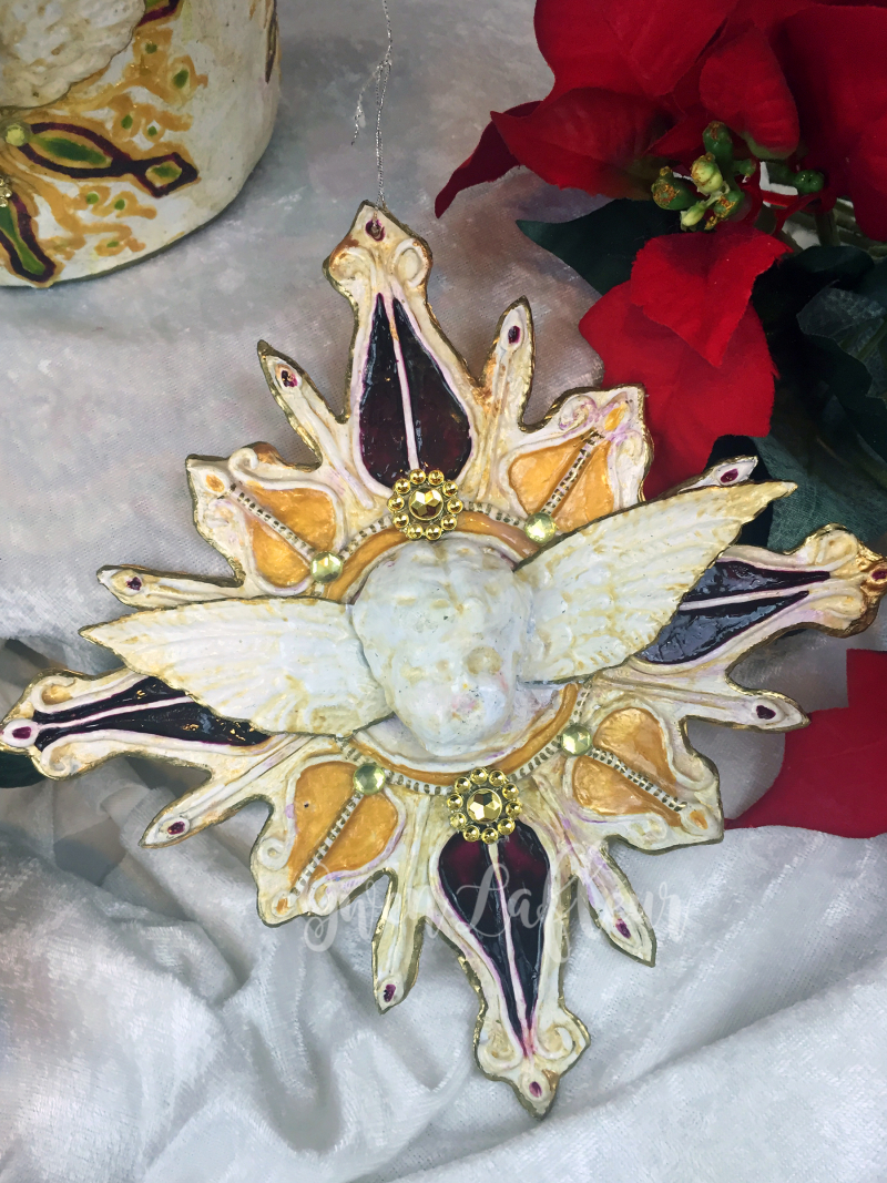 Faux Ceramic Ornament from Stencil 1 - Gwen Lafleur