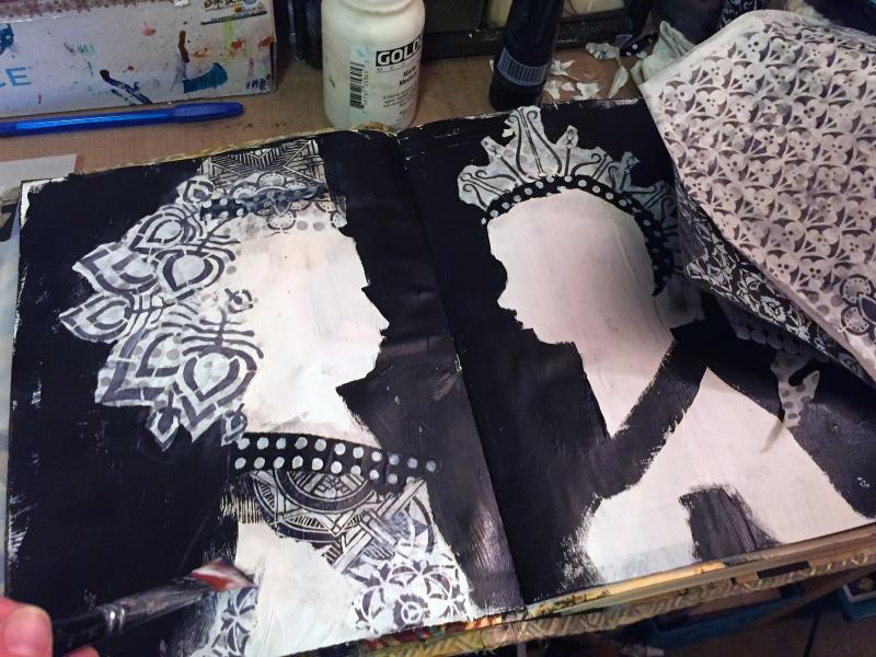 Alter Egos Art Journal Page - Step 4 - Gwen Lafleur