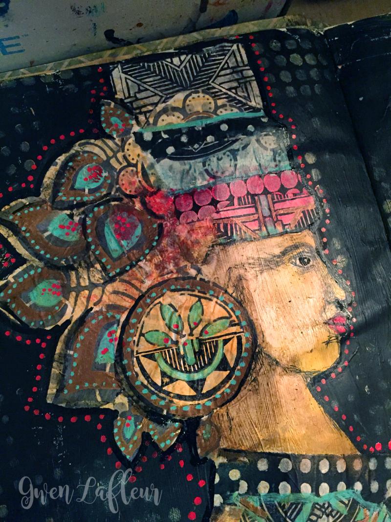 Alter Egos Art Journal Page - Left Side Close-up- Gwen Lafleur