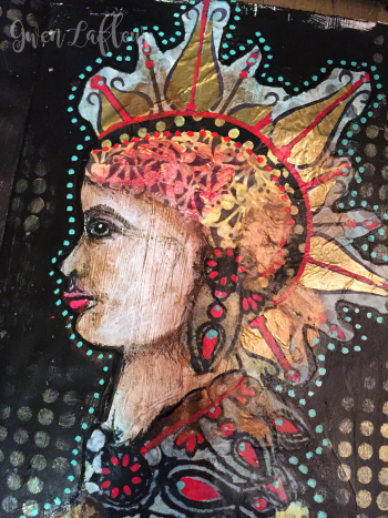 Alter Egos Art Journal Page - Left Side Close-up- Gwen Lafleur
