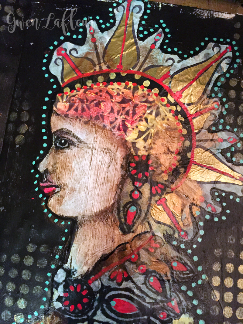 Alter Egos Art Journal Page - Right Side Close-up - Gwen Lafleur
