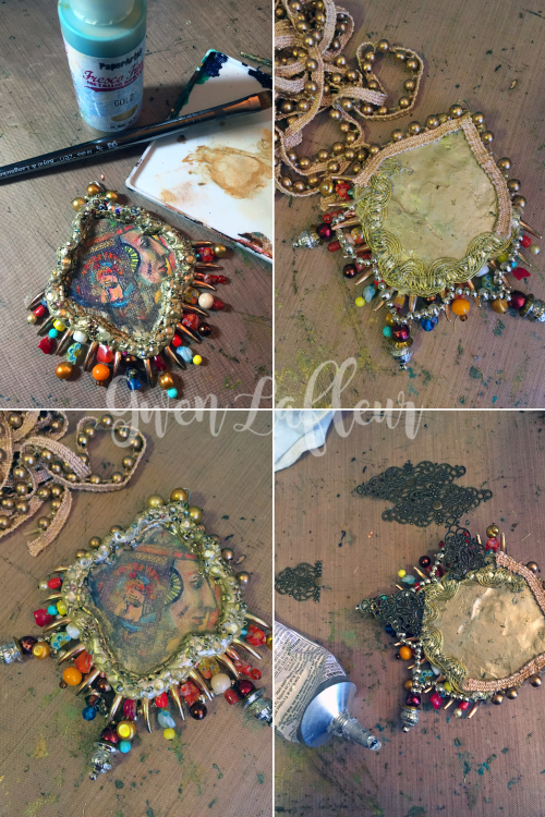 Mixed Media Pendant Steps 7-10 - Gwen Lafleur