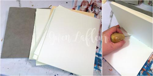 Stenciled Kraft-Tex Notebook Cover Step 7 - Gwen Lafleur