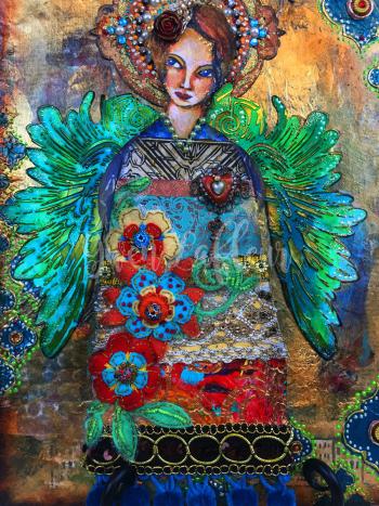 Mixed-Media-Angel-Close-up-5---Gwen-Lafleur