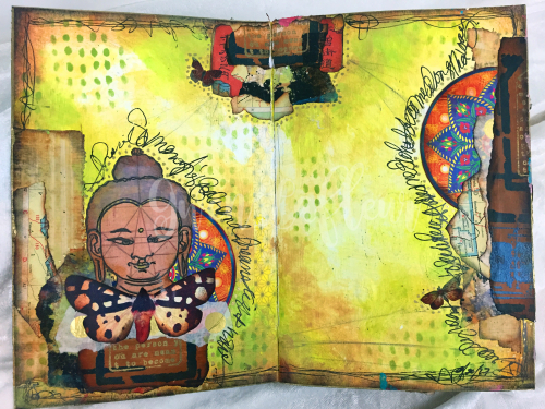 Art Journal Design Class - Spread 1 - Gwen Lafleur