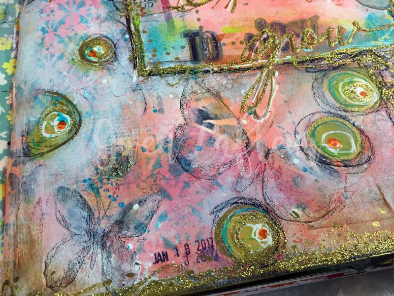 Wanderlust Week 1 - Art Journal Page Close-up 2 - Gwen Lafleur