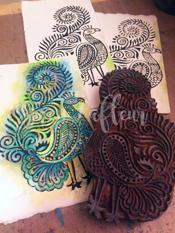 Printmaking - Blockprints with Watercolor - Gwen Lafleur