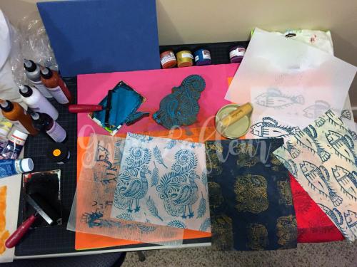 Printmaking - Printing Station 2 - Gwen Lafleur