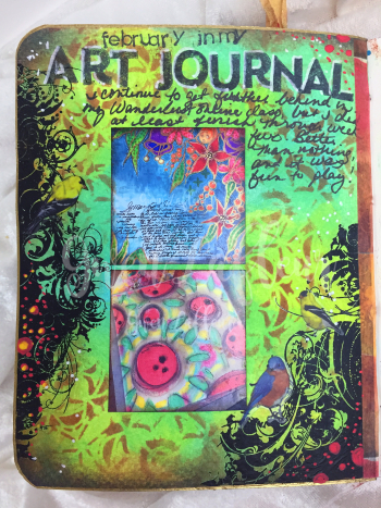 ARTifacts Art Journal - February Spread 3 - Gwen Lafleur