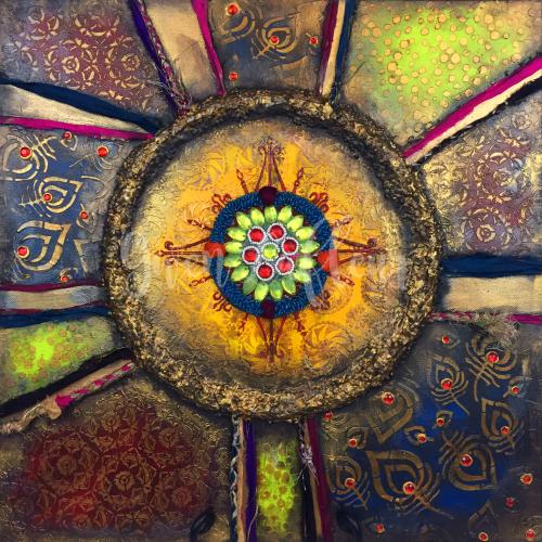 Boho Stenciled Canvas - Gwen Lafleur