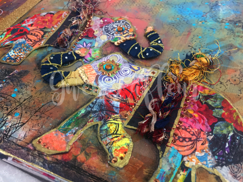 Boho Art Journaling - Elephants Close-up 2 - Gwen Lafleur
