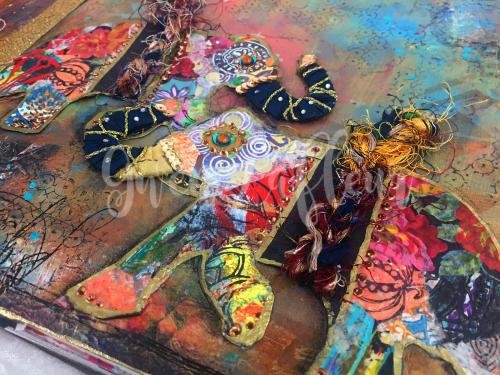 Boho Art Journaling - Elephants Close-up 2 - Gwen Lafleur