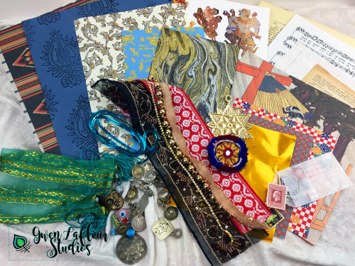 Going Global Collage and Embellishment Pack - Gwen Lafleur Studios