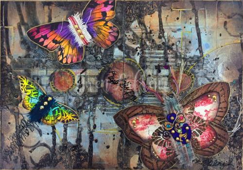 StencilGirl-Canvas Corps - Art Journal Spread - Gwen Lafleur