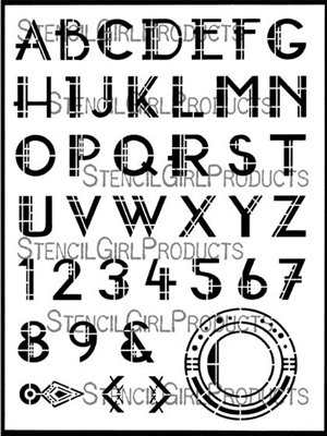 Art Deco Alphabet Stencil - Gwen Lafleur