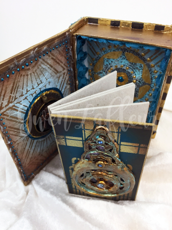 StencilGirl - Amazing Casting - Deco Book and Box - Inside with book 2 - Gwen Lafleur