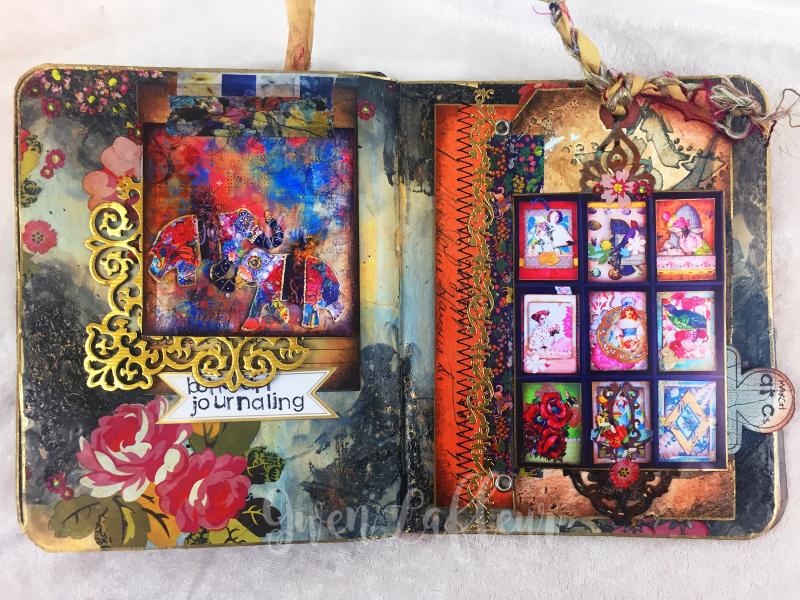 March ARTifacts Art Journal - Pages 2-3 - Gwen Lafleur
