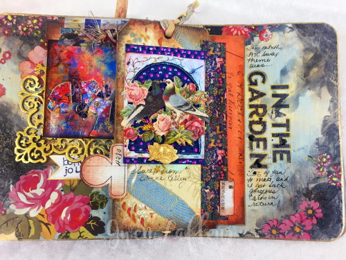 March ARTifacts Art Journal - Page 3a - Gwen Lafleur