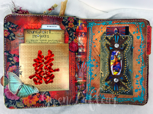 March ARTifacts Art Journal - Pages 4-5 - Gwen Lafleur