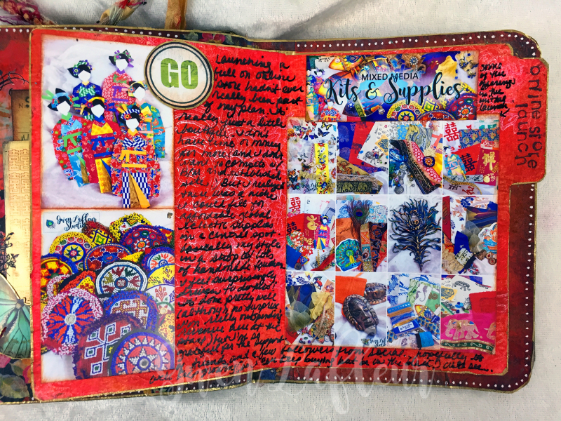 March ARTifacts Art Journal - Page 5b - Gwen Lafleur