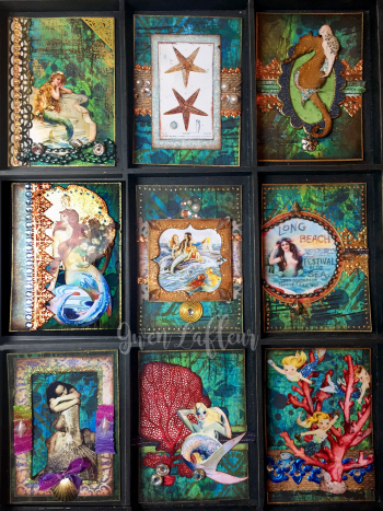 May 2017 ATCs - Mermaids and Sirens - Gwen Lafleur