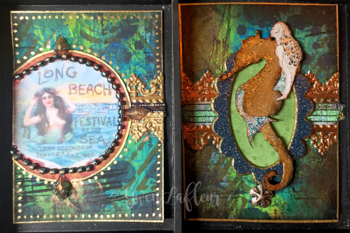May 2017 ATCs - Mermaids and Sirens Cards 7-8 - Gwen Lafleur