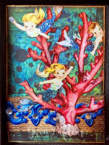 May 2017 ATCs - Mermaids and Sirens Card 9 - Gwen Lafleur