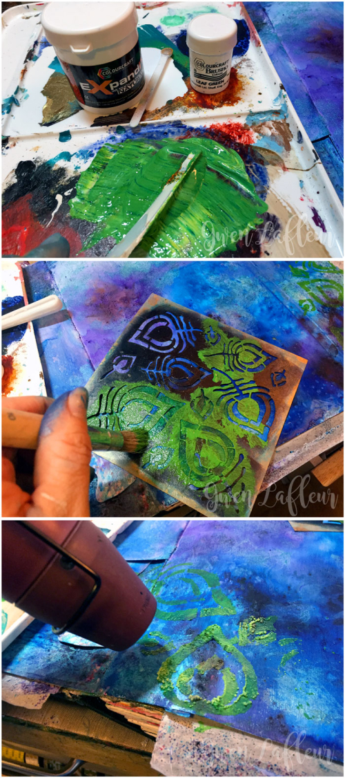 StencilGirl-Brusho-Art-Journal-Page-Step-3---Gwen-Lafleur