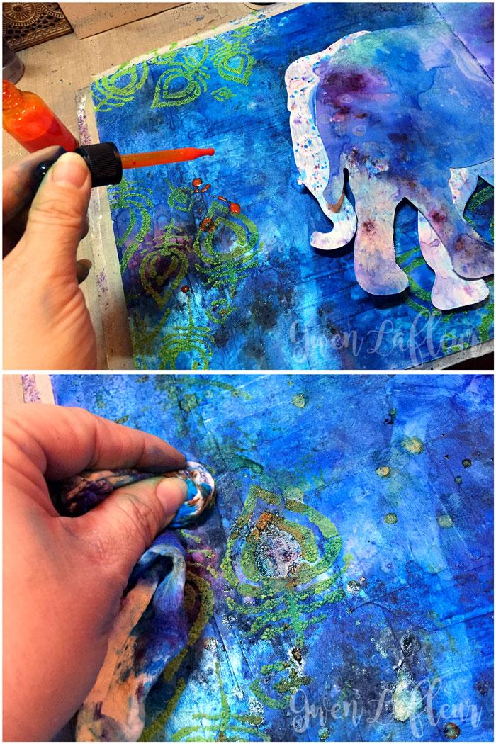 StencilGirl-Brusho-Art-Journal-Page-Step-4---Gwen-Lafleur