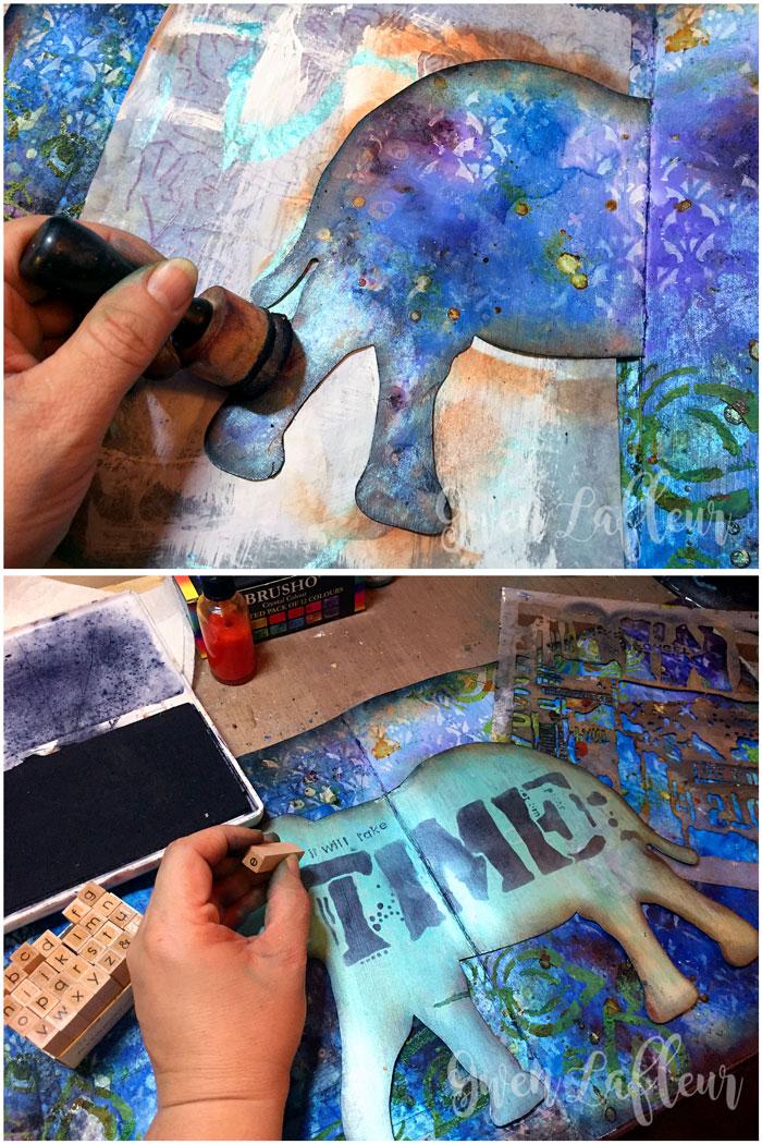 StencilGirl-Brusho-Art-Journal-Page-Steps-6-7---Gwen-Lafleur