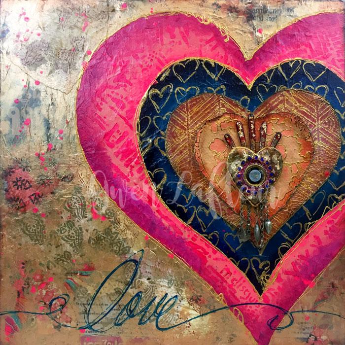 Choose-Love-Mixed-Media-Panel---Gwen-Lafleur