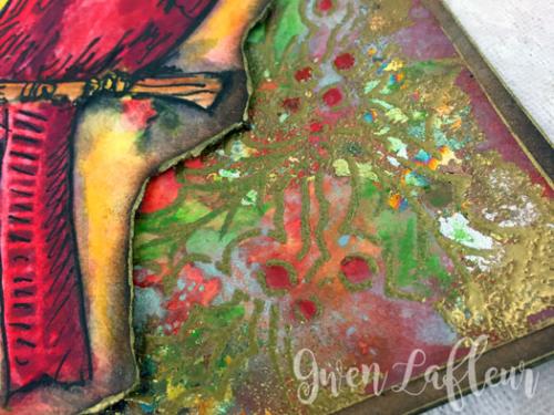Handmade-Card-with-Cardinal-and-Holly-Stencil-Closeup-2-Gwen-Lafleur