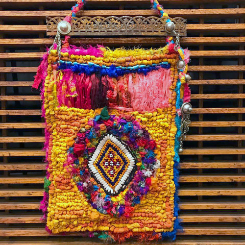 Wall-Hanging-with-Kuchi-Patches-and-Sari-Yarn-2---Jill-McDowell