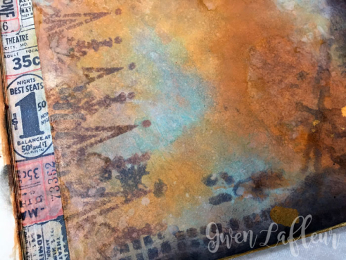 Stenciled-File-Folder-Art-Journal-with-Distress-Oxide-Inks-Spread-3-Closeup---Gwen-Lafleur