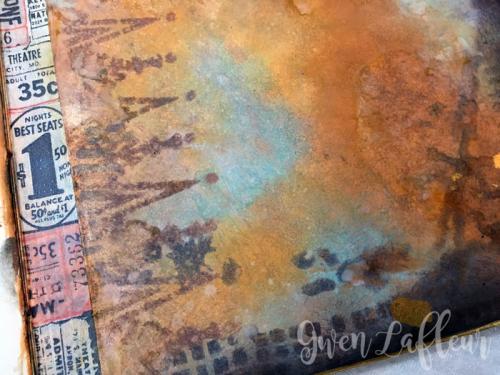 Stenciled-File-Folder-Art-Journal-with-Distress-Oxide-Inks-Spread-3-Closeup---Gwen-Lafleur