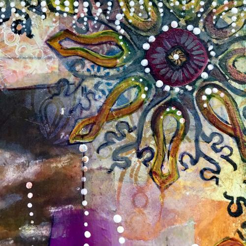 October Art Journaling Part 1 Closeup 1 - Jill McDowell