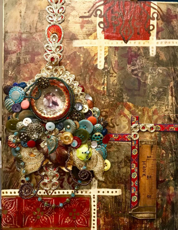 Mixed Media with Buttons and Trims - Jill McDowell