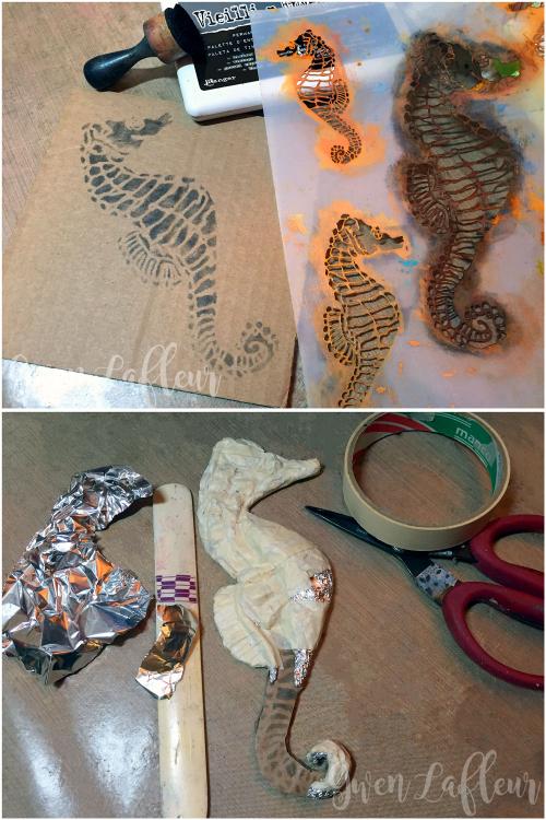 Mixed-Media-Seashorse-Sculpture-Steps-1-2