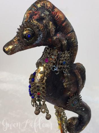 Mixed-Media-Seahorse-Scupture---Front-View---Gwen-Lafleur