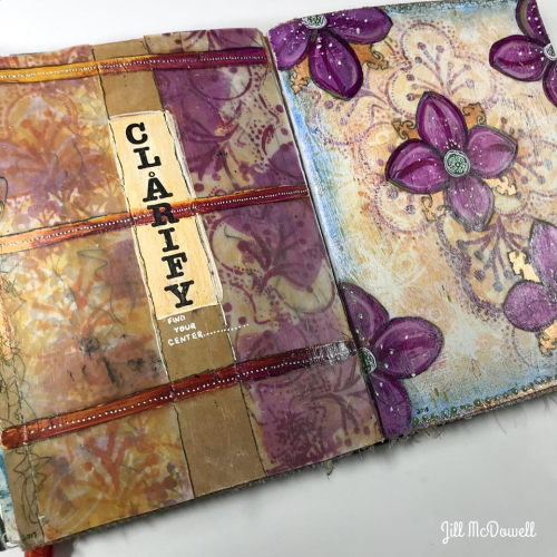 January Art Journaling 1 - Jill McDowell