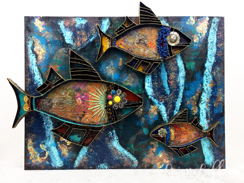 3D-Collaged-Boho-Fish----Gwen-Lafleur