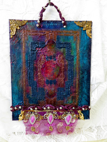 Glam-Deco-Mixed-Media-Wall-Hanging---Jackie-Neal