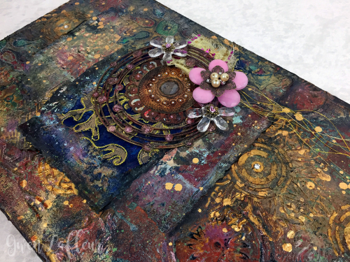 Mixed-Media-Collage-with-Stenciled-Texture-and-Skins-closeup-3-----Gwen-Lafleur