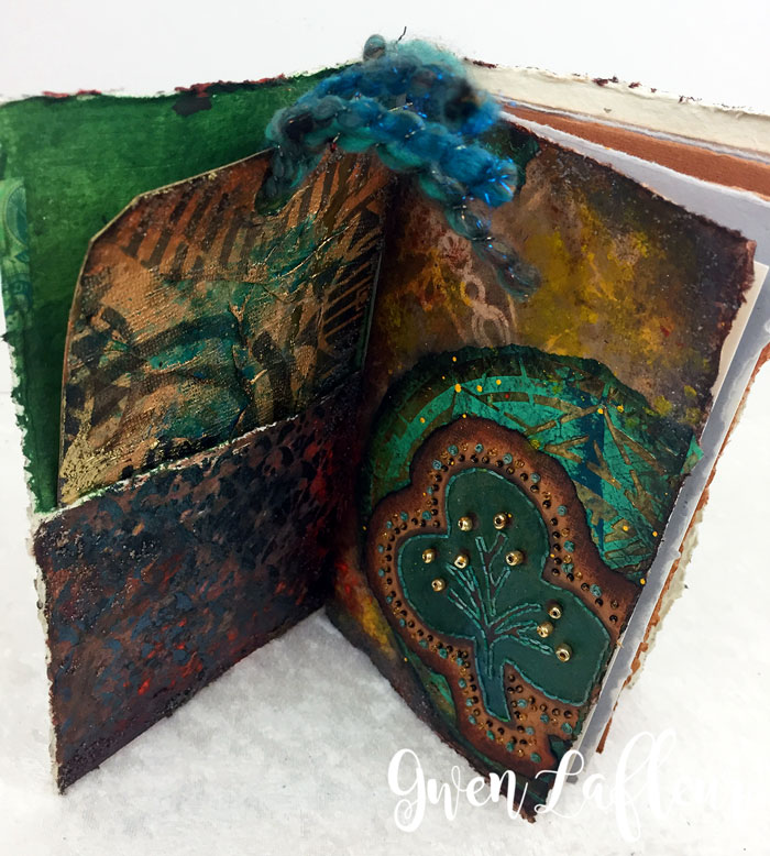 Stenciled-and-Sprayed-Mini-Art-Journal-Inside---Gwen-Lafleur
