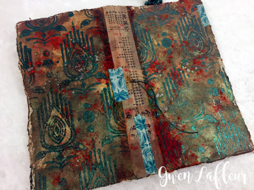 Stenciled-and-Sprayed-Mini-Art-Journal-Covers---Gwen-Lafleur