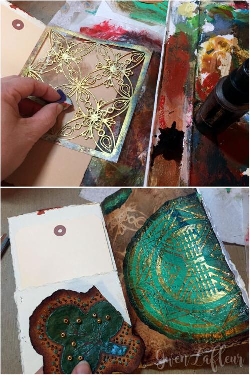 Sprayed-and-Stenciled-Art-Journal-Page-Background---Gwen-Lafleur