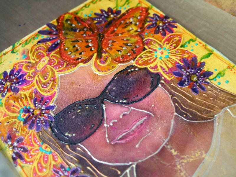 StencilGirl-Leslie Riley TAP Hop Project Closeup 1 - Gwen Lafleur