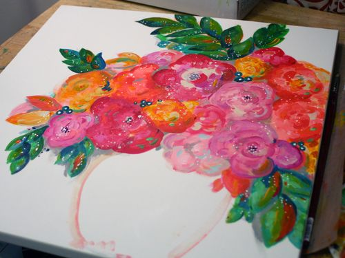DecoArt Media and StencilGirl Painting Step 3 by Gwen Lafleur